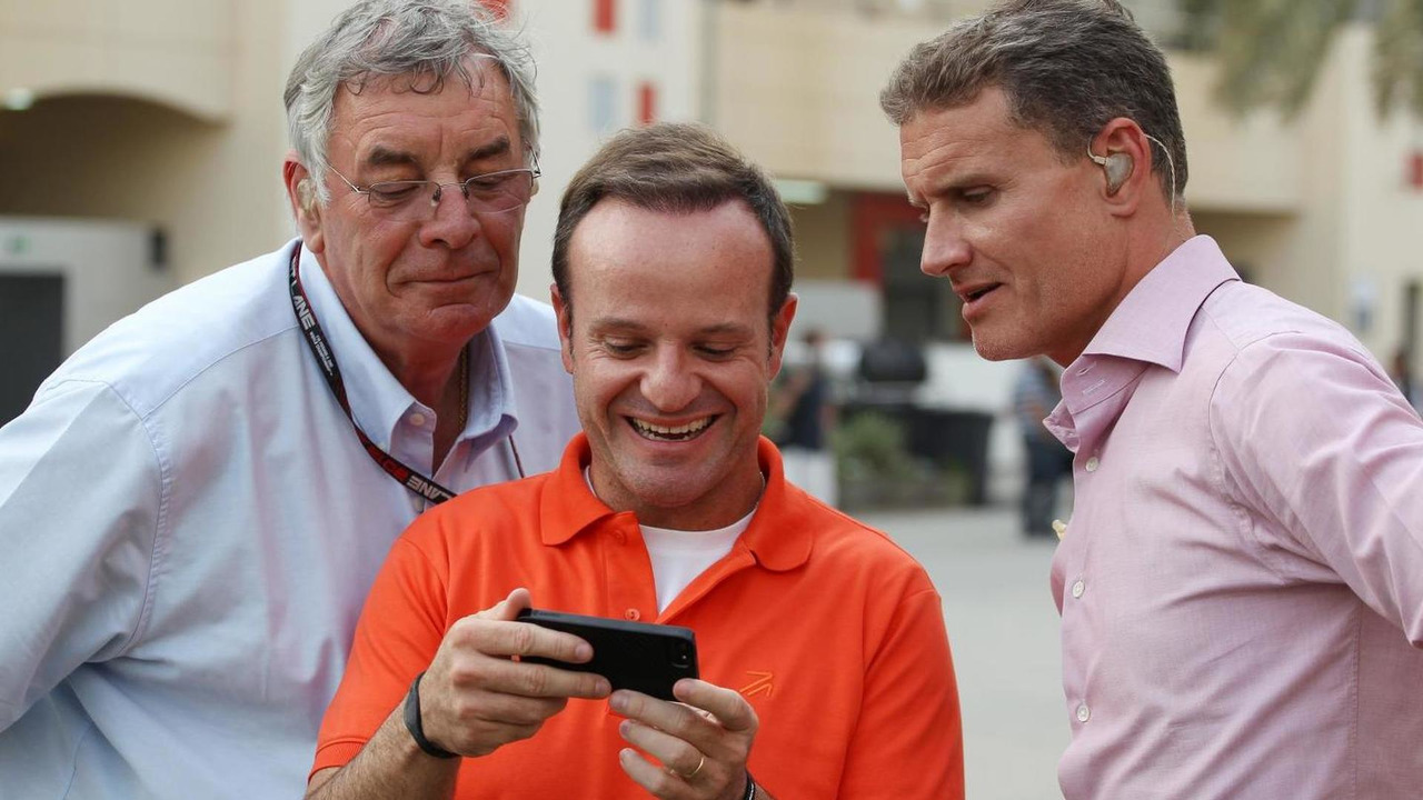 Gary Anderson with Rubens Barrichello and David Coulthard 20.04.2013 Bahrain Grand Prix