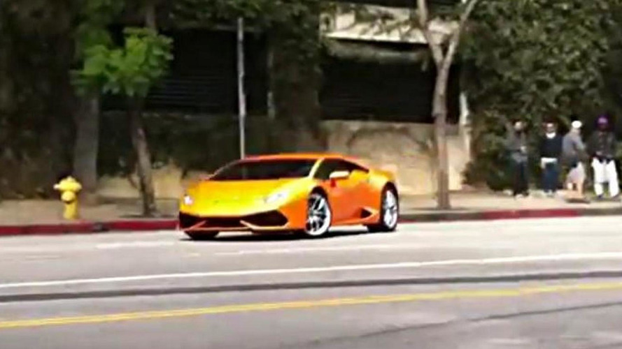 Lamborghini Huracan seen drifting in United States, possibly during ad shoot [video]