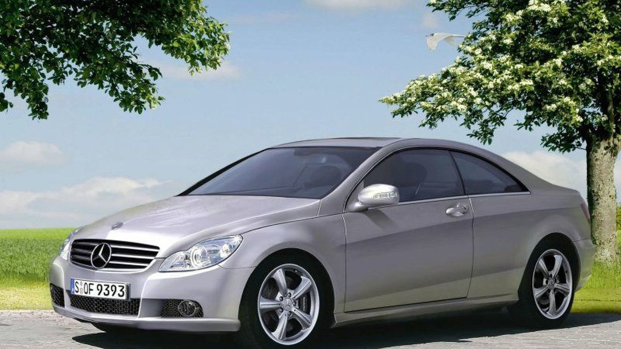 2008 Mercedes CLK Coupe illustration