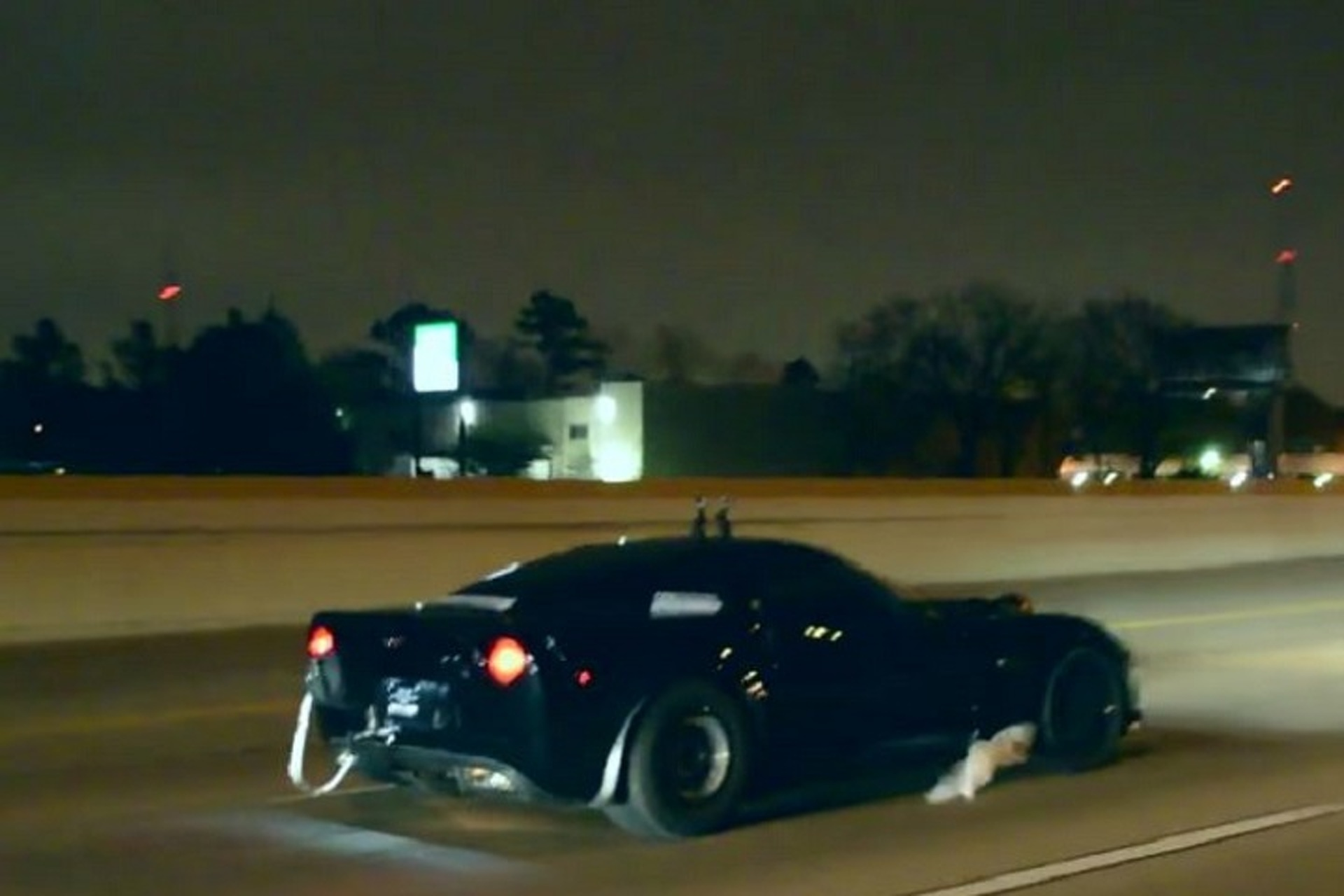 Watch This 2,400HP Corvette Blast Down a Texas Highway