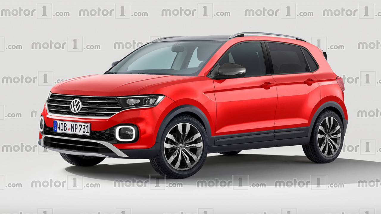 vw t cross render imagines the cutest polo crossover. Black Bedroom Furniture Sets. Home Design Ideas