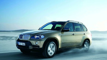 BMW X5 with xDrive in snow