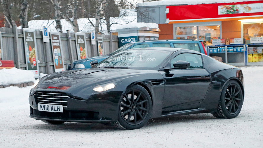 2018 Aston Martin Vantage caught playing in the snow
