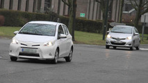 2013 Toyota Yaris HSD spied with light disguise