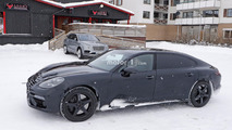 2019 Bentley Flying Spur spied disguised as an extra-long Panamera