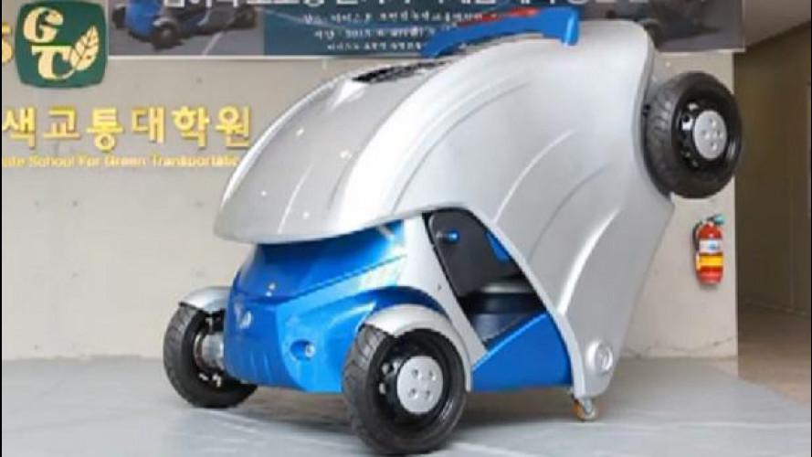 Armadillo-T,  l'elettrica che si parcheggia a distanza