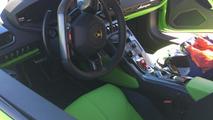 Lamborghini Huracan with Verde Mantis paint