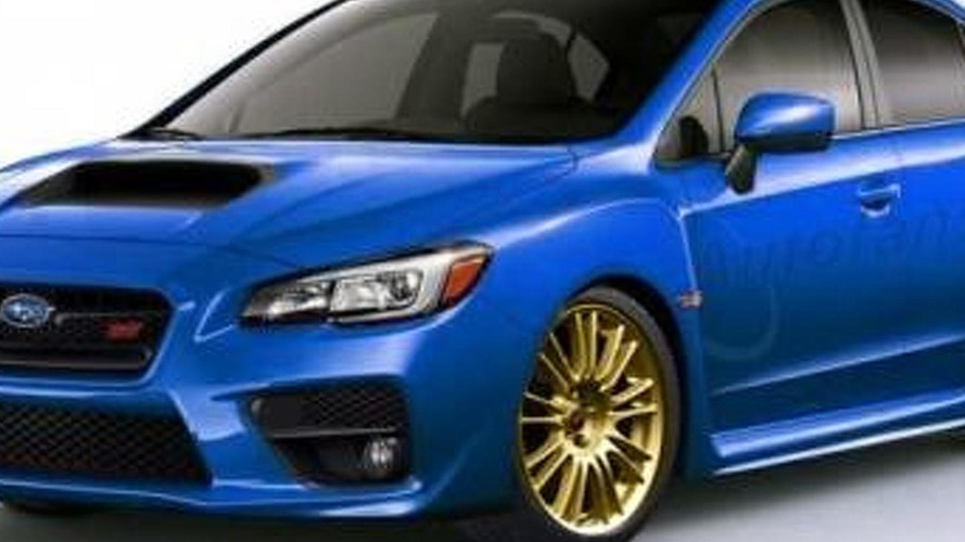 2015 Subaru WRX rendered in STI flavor