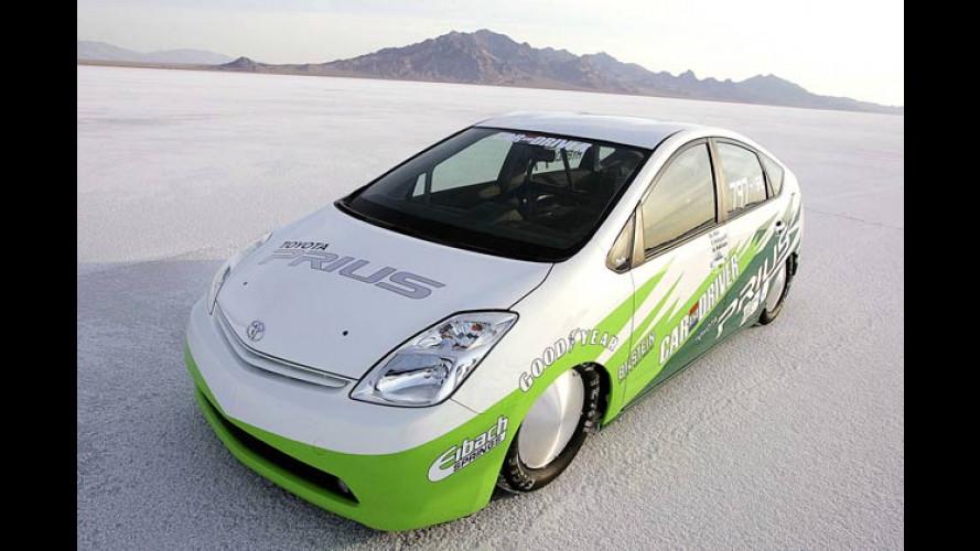 Auf Salzsee-Rekordfahrt: Toyota Prius Landspeed