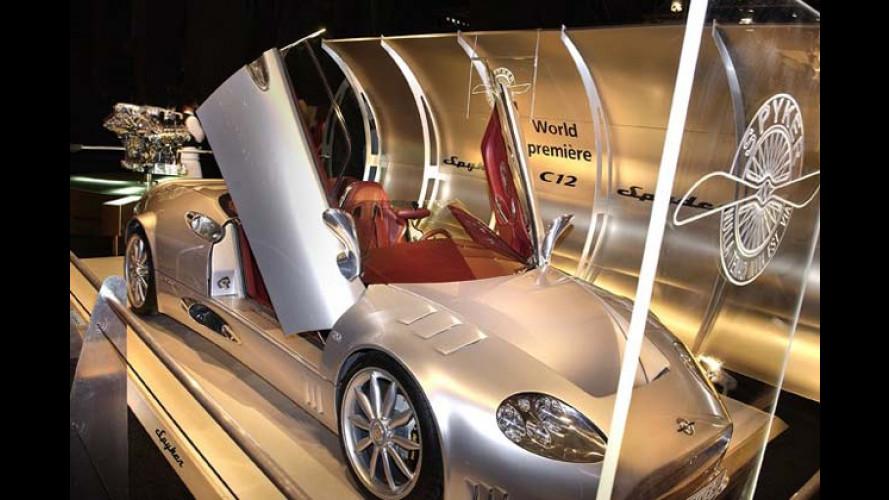 Kurz vor zwölf für Spyker - starker Audi-Motor für das Cabrio
