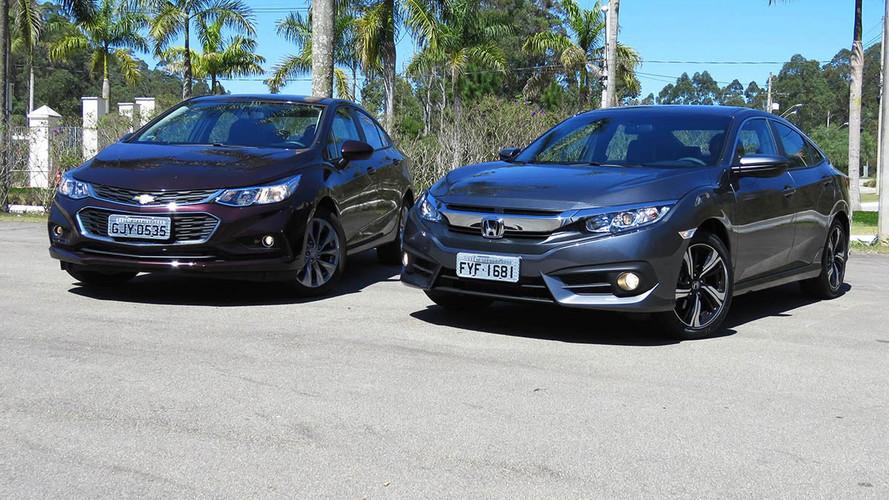 Mais vendidos de julho - Cruze desbanca Civic pela primeira vez