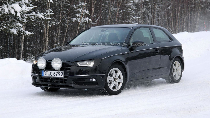 2013 Audi A3 spied with minimal camouflage
