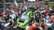Starting grid, #16 GRT Grasser Racing Team, Lamborghini Huracan GT3: Rolf Ineichen, Jeroen Bleekemolen, Mirko Bortolotti