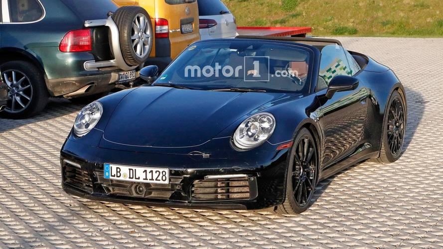 Yeni nesil Porsche 911 Cabriolet casus fotoğraflar