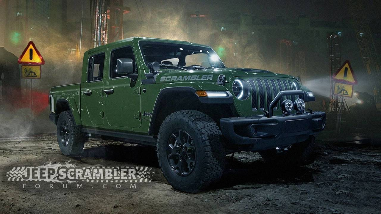 2020 jeep scrambler render looks ready for the real world. Black Bedroom Furniture Sets. Home Design Ideas