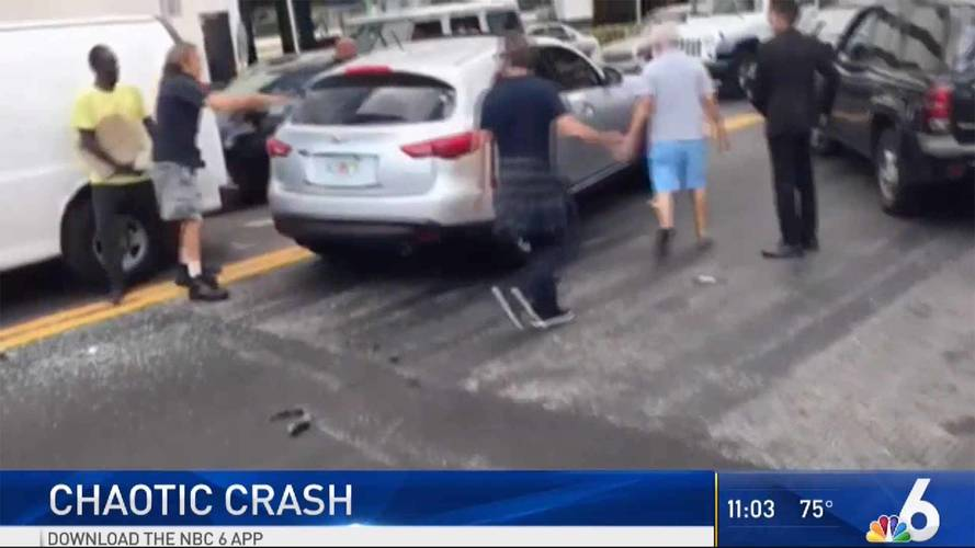 You Have to See The Chaotic Scene After This Hit And Run