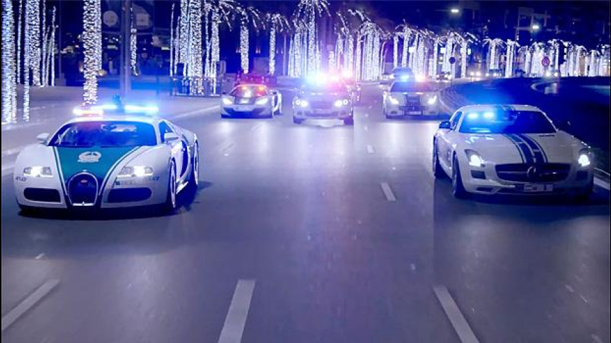 A Dubai la legge viaggia in supercar [VIDEO]