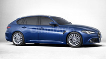 Alfa Romeo Giulia Sportwagon rendered in standard specification