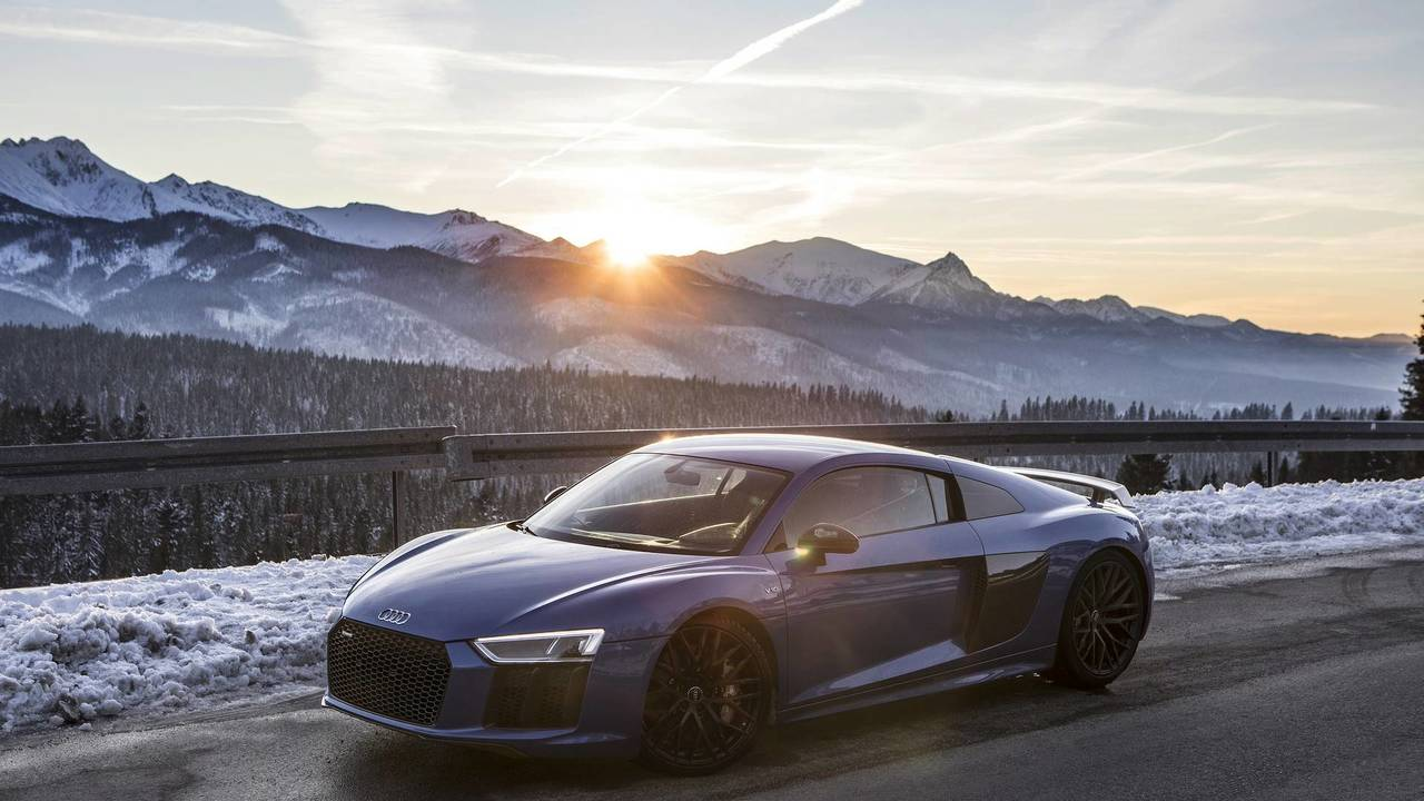 Audi R8 winter photo session