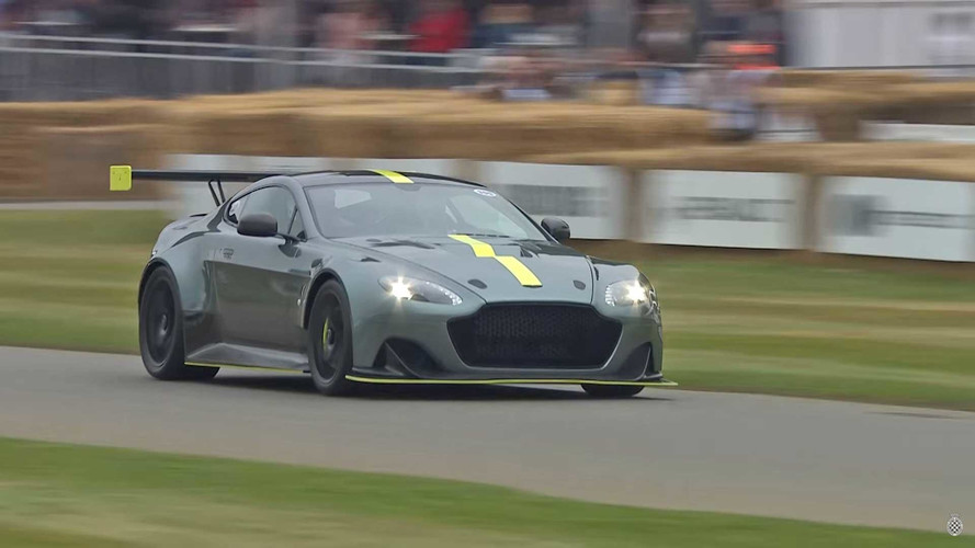 Watch And Listen As Aston Martin Brings V8 Glory To Goodwood