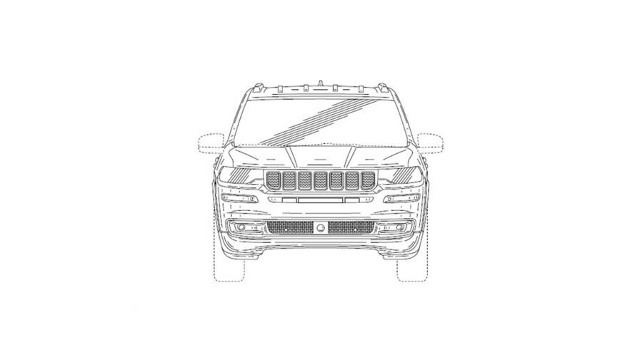 Jeep 7-Seat Patent Drawing