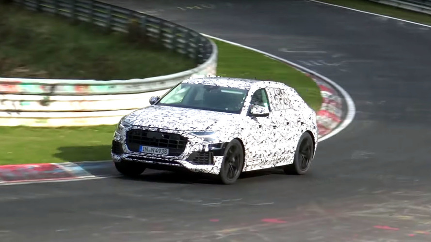 Audi Q8 Coupe-SUV Spied Dynamic Testing At Nürburgring