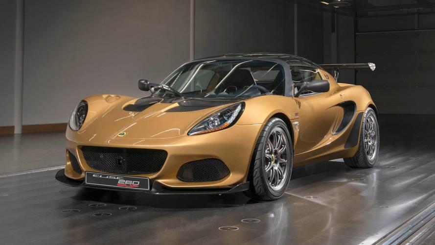 862 kilogrammos súllyal debütált a Lotus Elise Cup 260 Limited Edition