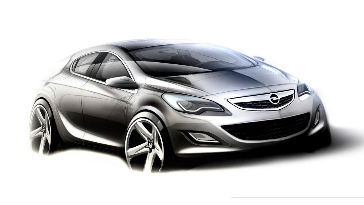 2012 Opel Astra OPC hatchback sketch - 1600 - 08.07.2009