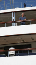 Flavio Briatore, on the yacht Force Blue in the harbour of Monaco, Monaco Grand Prix,  24.05.2006 Monte Carlo