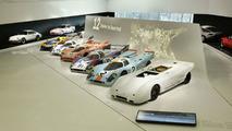 Porsche 917 theme display in Porsche Museum Stuttgart