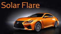 Lexus RC F with Solar Flare paint