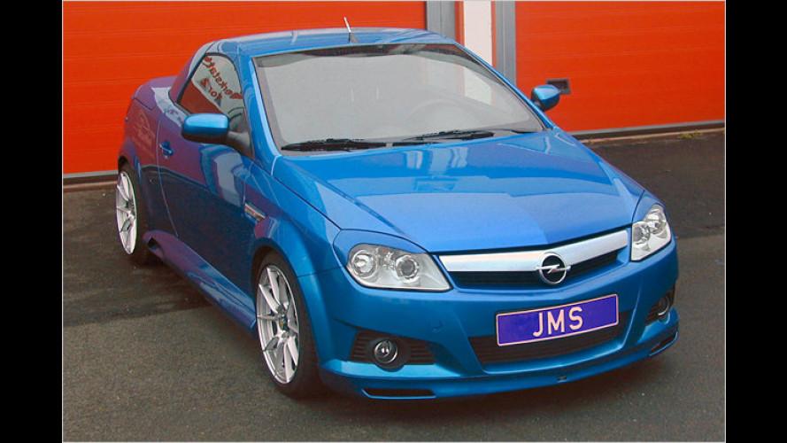 Opel Tigra Twintop: JMS stylt den Kompakten im Sport-Outfit