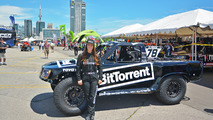 Sara Price sponsored by BitTorrent is first female driver in Stadium Super Trucks