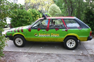 Subaru Wagon Turned into Jurassic Park Car