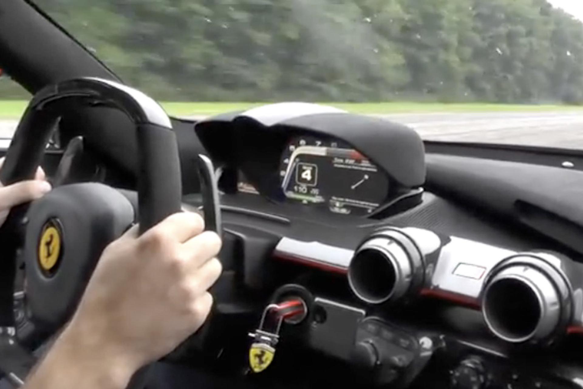 Watch this Ferrari LaFerrari Supercar Hit 213 MPH