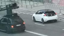 Nissan Leaf 2018, foto espía (vía Broom)