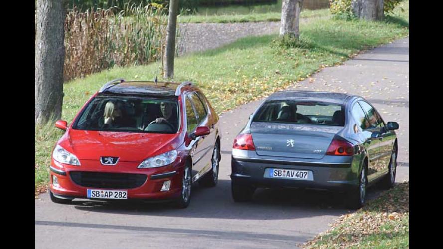 Höhere Preise bei Peugeots Mittelklässlern 407 und 407 SW