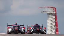 #7 Audi Sport Team Joest Audi R18-Marcel Fässler, Andre Lotterer, Benoit Tréluyer, #8 Audi Sport Team Joest Audi R18 e-tron quattro- Lucas di Grassi, Loic Duval, Oliver Jarvis