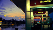 Rain, Gas Station and Dawn