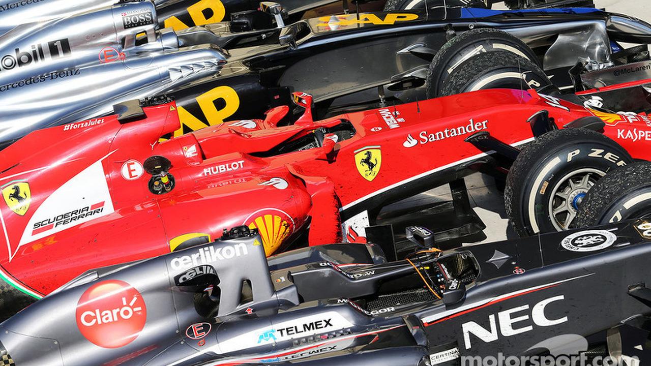 Cars in post race parc ferme