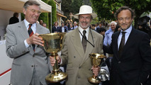 Jean Marc Droulers (left) and Karl Baumer (right) award the Coppa d' Oro Villa d'Este to Jon Shirley, owner of the Alfa Romeo 6C, 1750 GTC, 1931, Concorso d'Eléganza Villa d'Este 2009