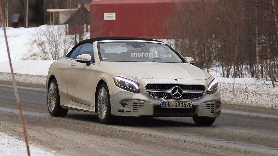 Mercedes-Benz S-Class Cabriolet Refresh Spy Photos