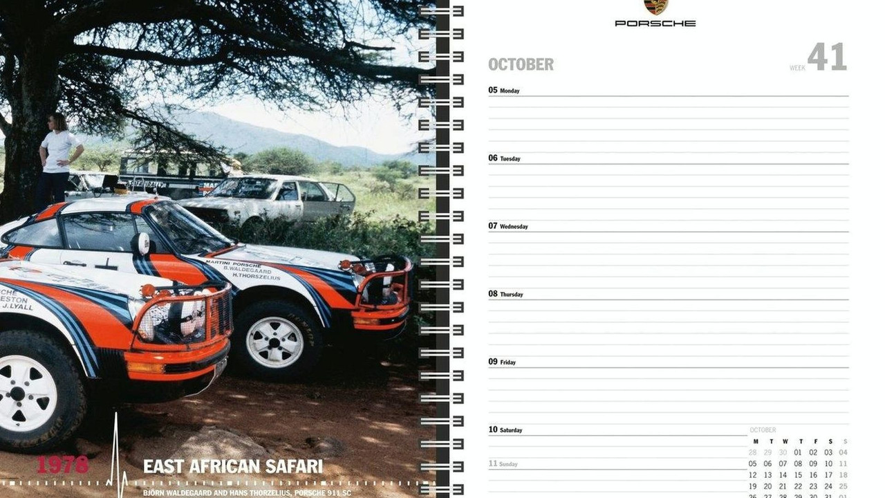Porsche 2009 date planner - open