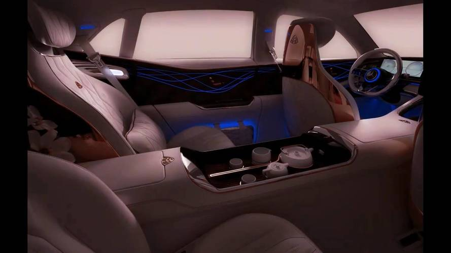 Le nouveau concept Mercedes-Maybach équipé d'un service à thé