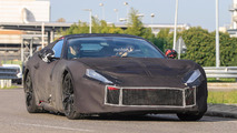 Ferrari F12 M Camouflaged Spy Photos