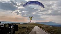Volvo Paraglider stunt