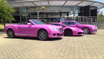 Bentley Continental GT Speed Convertible, Lamborghini Huracan and Bentley Flying Spur for Breast Cancer Awareness Month
