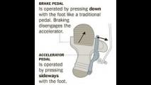 Inventor japonês cria um único pedal para acelerar e frear