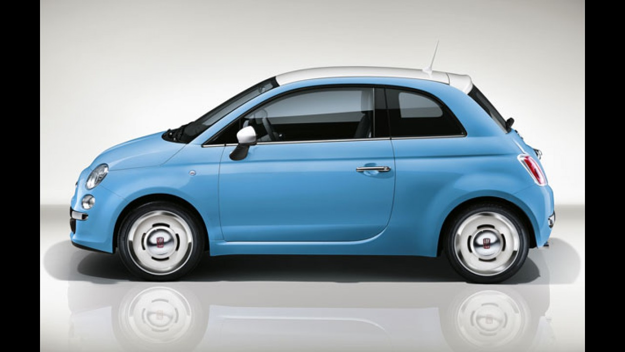Edição retrô Vintage'57 do Fiat 500 será vendida na Europa  - veja fotos
