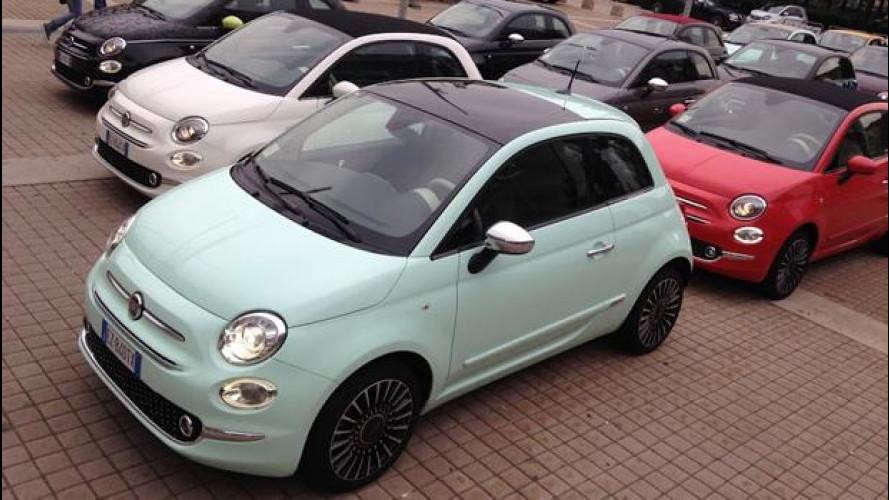 Fiat, la nuova 500 vista dal vivo